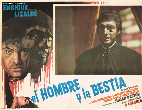 El Hombre Y El Bestia Mexican Lobby Card