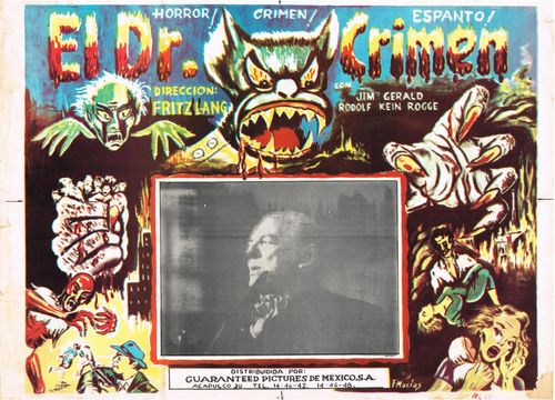 el dr. crimen mexican lobby card