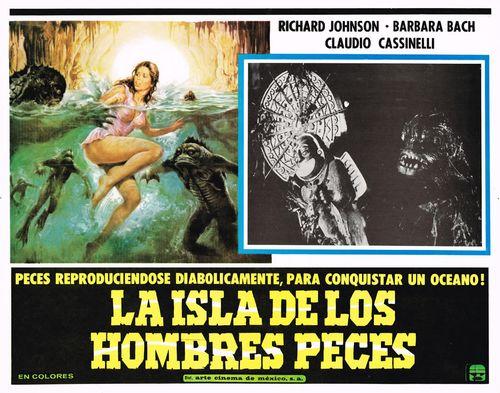 La Isla De Los Hombres Peces Mexican Lobby Card