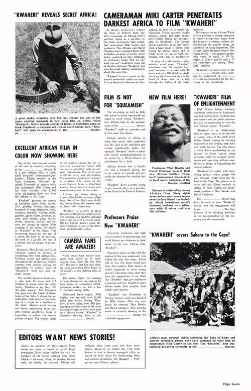 Kwaheri: Vanishing Africa Pressbook