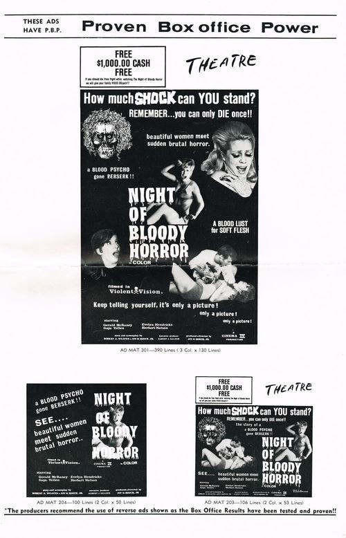Night of Bloody Horror Pressbook