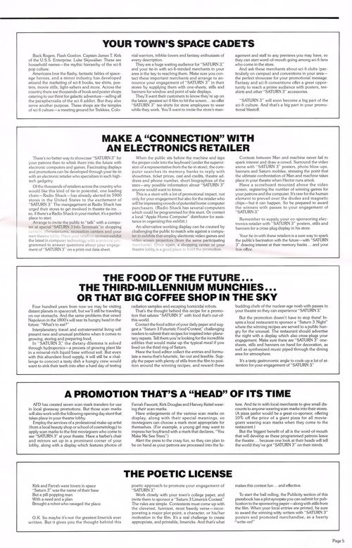 Saturn 3 Pressbook
