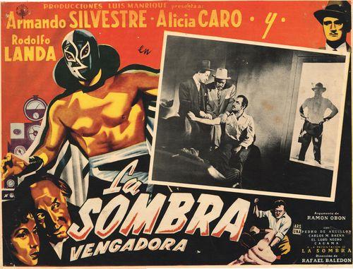 La Sombra Vengadora Mexican Lobby Card