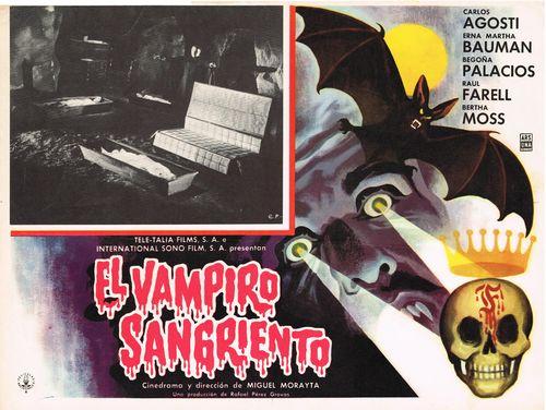 El Vampiro Sangriento Mexican Lobby Card