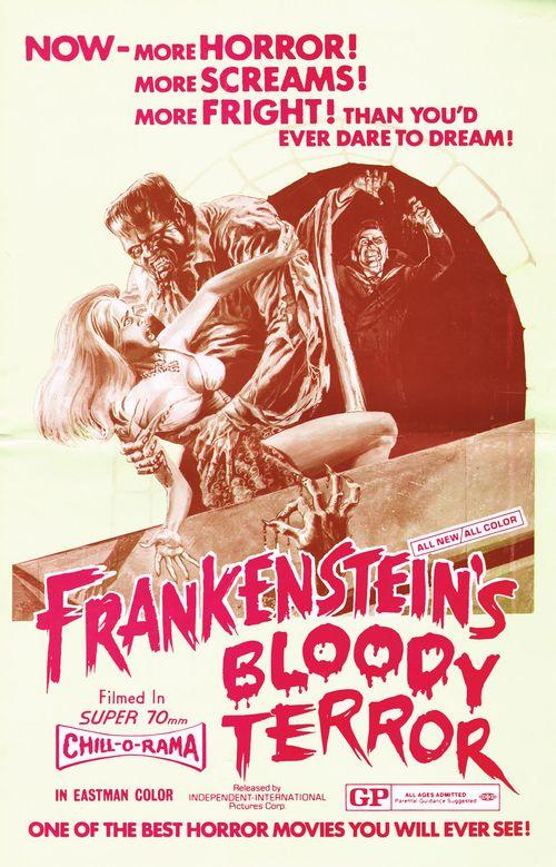 Frankensteins bloody terror pressbook 00