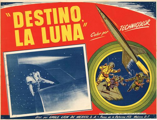 Destino la Luna Mexican Lobby Card