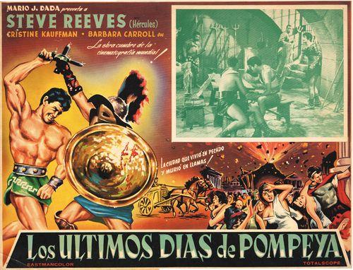 Los Ultimos Dias De Pompeya Mexican Lobby Card