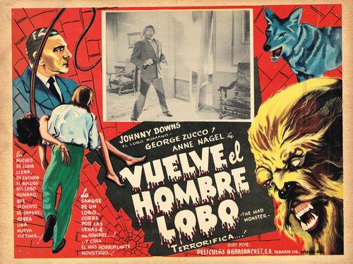 Vuelve El Hombre Lobo Mexican Lobby Card