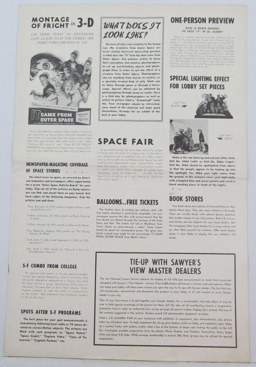 it came from outer space pressbook