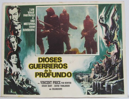 War Gods of the Deep mexican lobby card