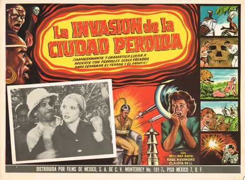 La Invasion De La Ciudad Pedida Mexican Lobby Card