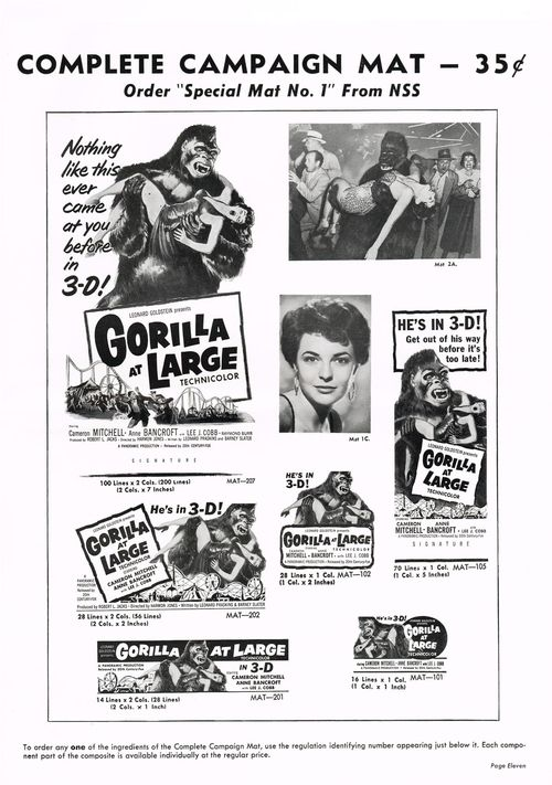Gorilla at Large pressbook