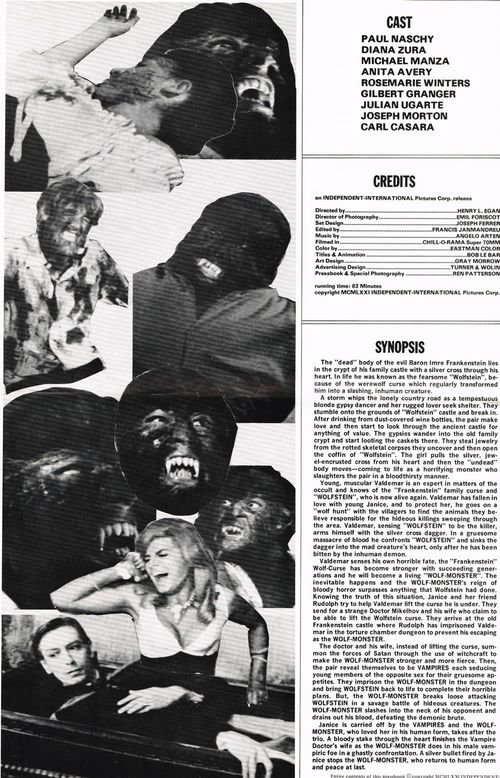 Frankensteins bloody terror pressbook 01