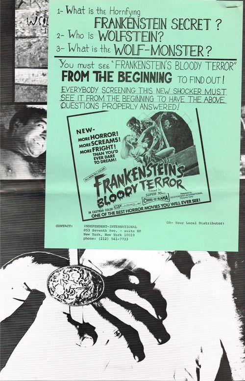 Frankensteins bloody terror pressbook 02
