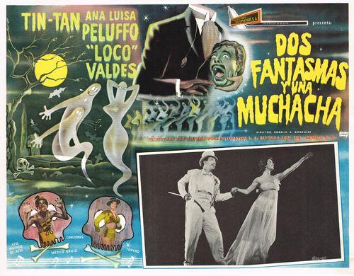 Dos Fantasmas Y Una Muchacha Mexican Lobby Card