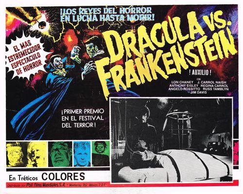 Dracula vs. Frankenstein Mexican lobby card