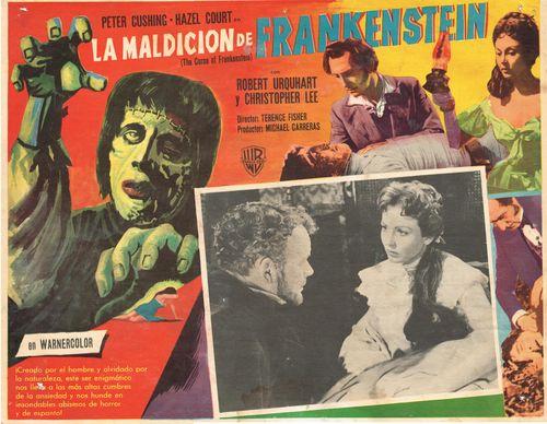 La Maldicion De Frankenstein Mexican Lobby Card