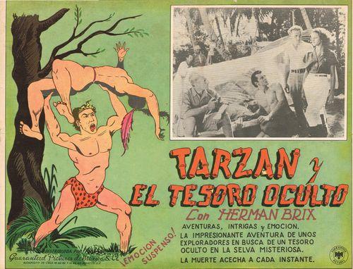 Tarzan Y El Tesoro Oculto mexican lobby card