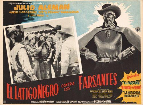 El Latigo Negro Contra Los Farsantes Mexican Lobby Card