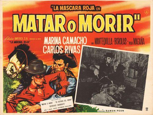 La Mascara Roja En Matar o Morir Mexican Lobby Card