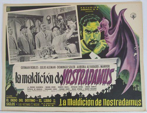 LA MALDICION DE NOSTRADAMUS Mexican Lobby Card