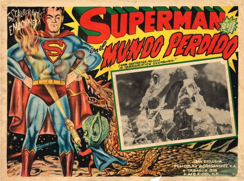 Superman En El Mundo Perdido Mexican Lobby Card