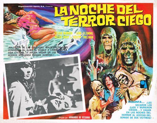 La Noche Del Terror Ciego Mexican Lobby Card