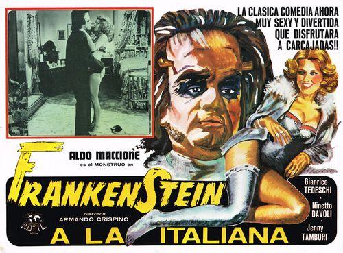 Frankenstein a la Italiana Mexican Lobby Card