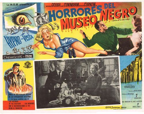 horrores del museo negro mexican lobby card