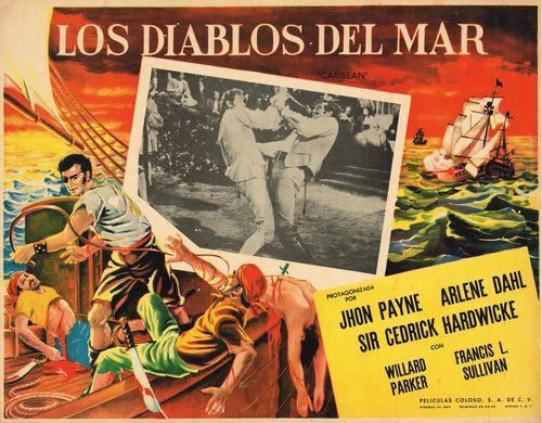 Los Diablos Del Mar Mexican Lobby Card