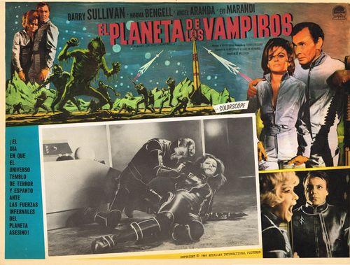 El Planeta De Los Vampiros Mexican Lobby Card