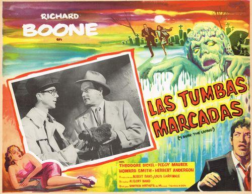 Las Tumbas Marcadas Mexican Lobby Card