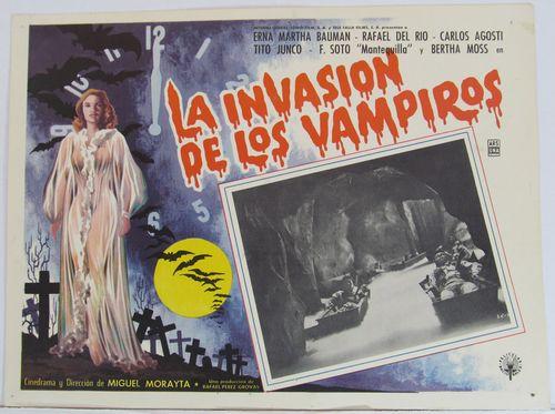 La Invasion De Los Vampiros 1963 Mexican lobby card