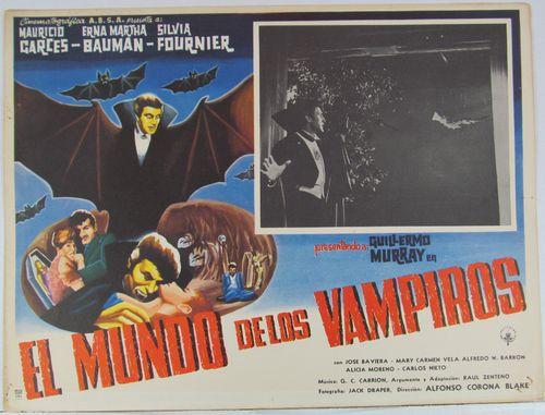 el Mundo de los vampiros mexican lobby card