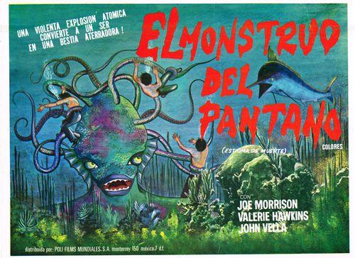 el monstruo del pantano mexican lobby card