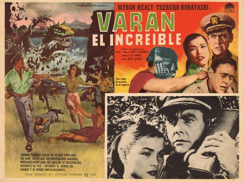 Varan El Increible Mexican Lobby Card