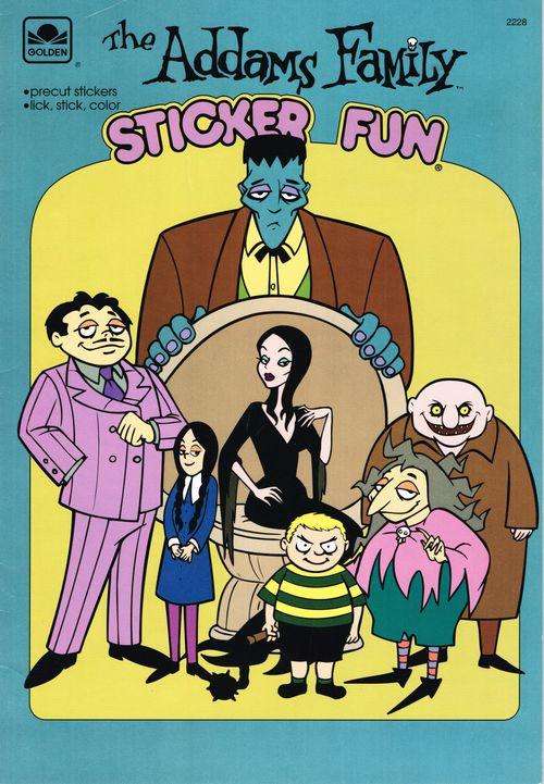 Golden The Addams Family Sticker Fun