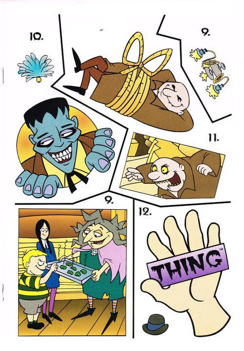 Golden The Addams Family Sticker Fun