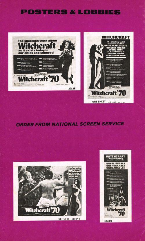 Witchcraft '70 Pressbook