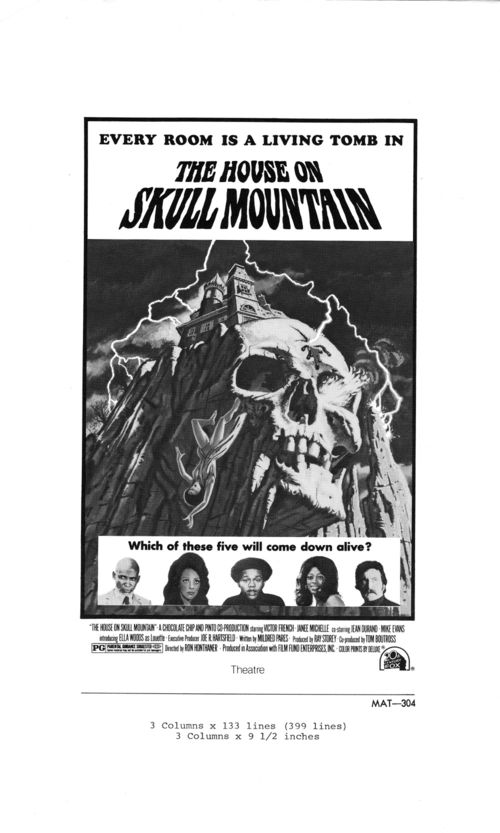 The House on Skull Mountain Pressbook