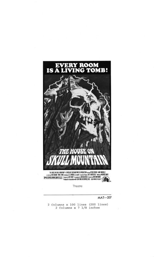 The House on Skull Mountain Pressbook