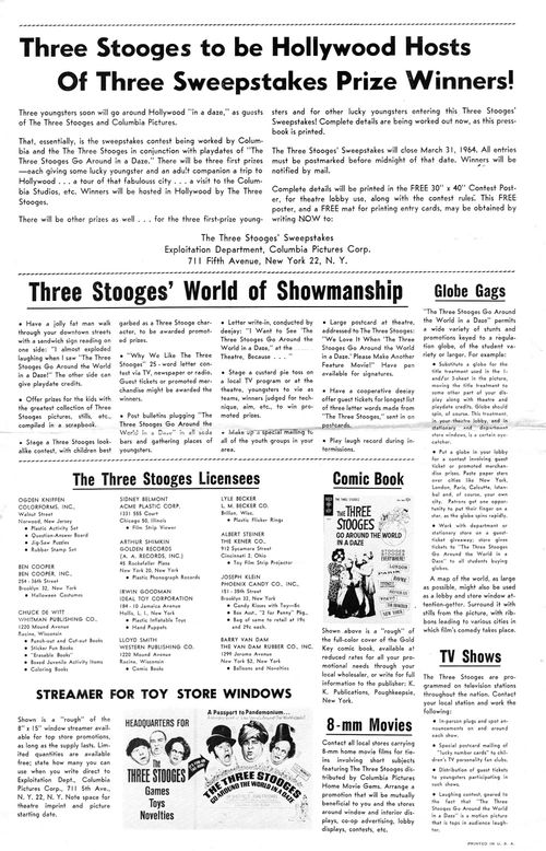 The Three Stooges Go Around the World In a Daze Pressbook