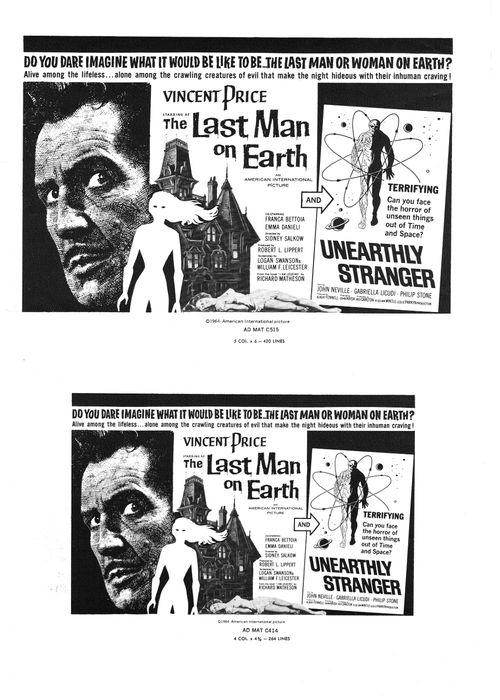 The Last Man on Earth Pressbook