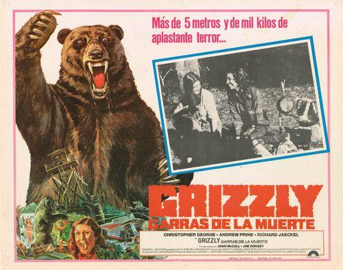 Grizzly Garras De La Muerte Mexican Lobby Card