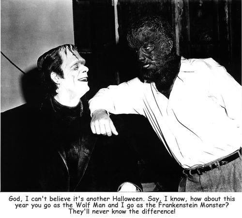 Glenn Strange and Lon Chaney Jr