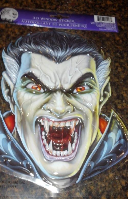 Halloween 3D Window Sticker, Dracula