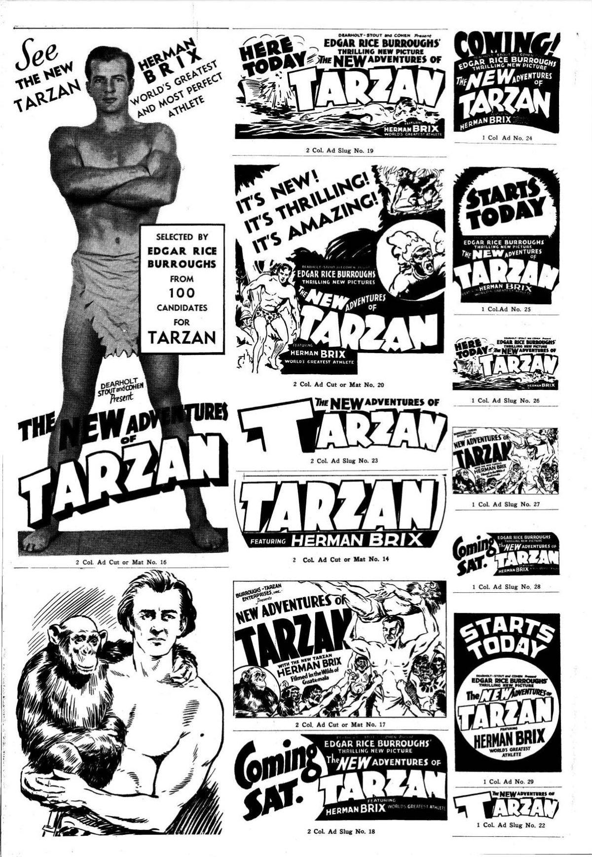 Movie Pressbook New Adventures Of Tarzan From Zombos Closet