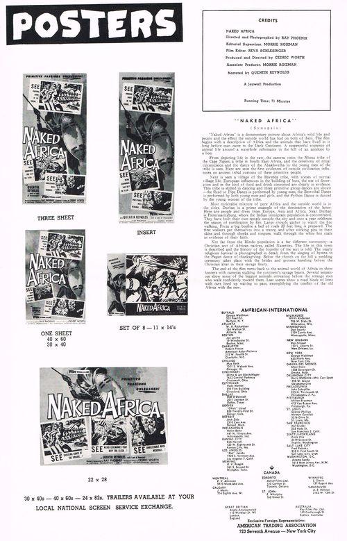white huntress naked africa movie pressbook
