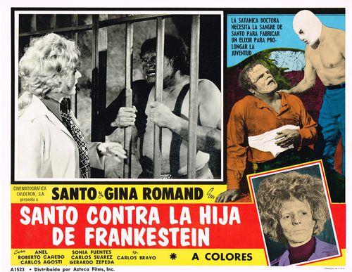 Santo-contra-la-hija-frankenstein mexican lobby card