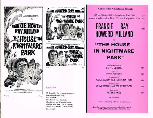 The House in Nightmare Park Pressbook